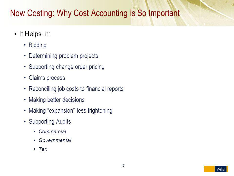 Now Costing: Why Cost Accounting is So Important