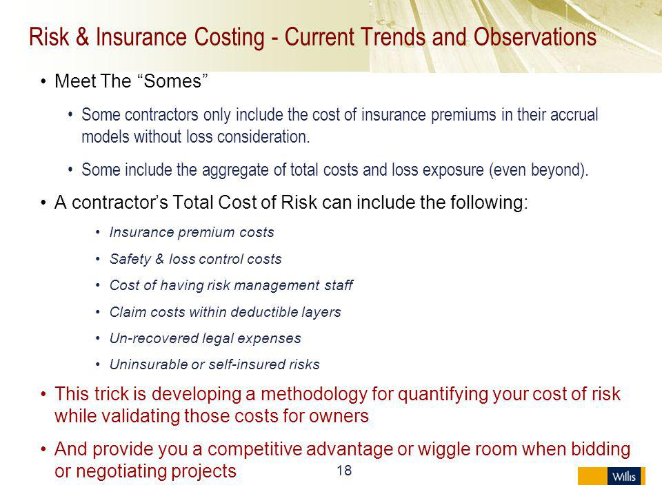 Risk & Insurance Costing - Current Trends and Observations