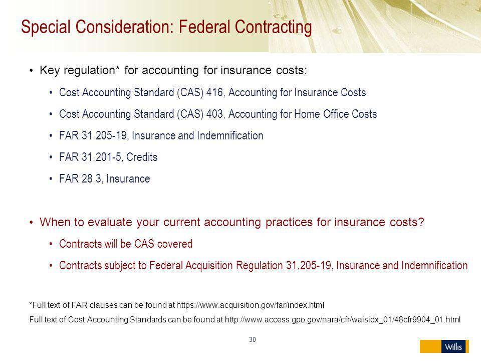 Special Consideration: Federal Contracting
