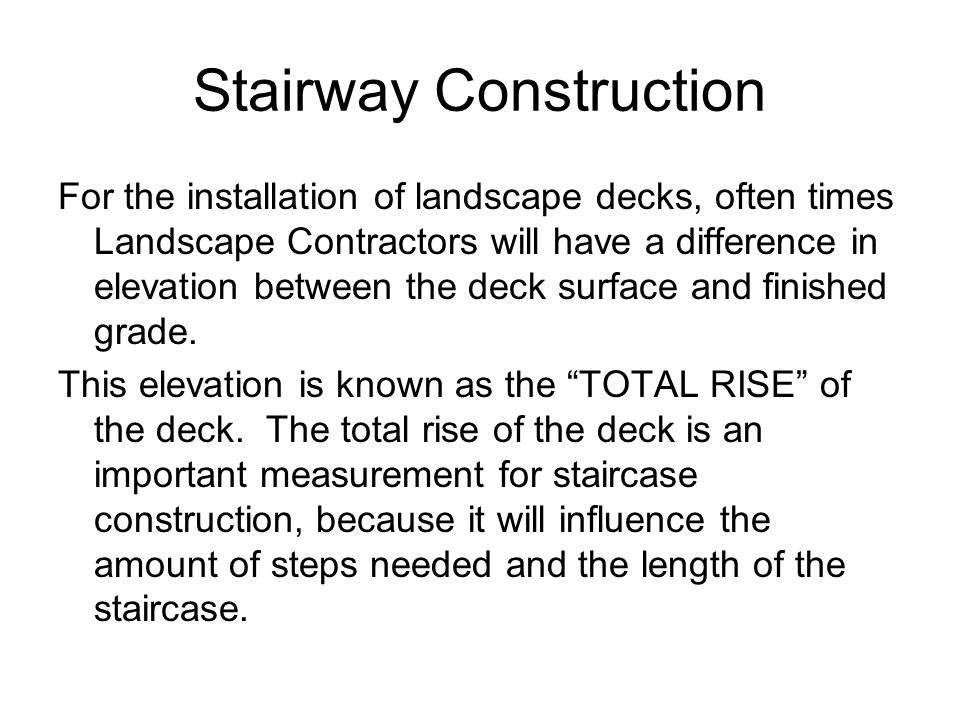 Stairway Construction