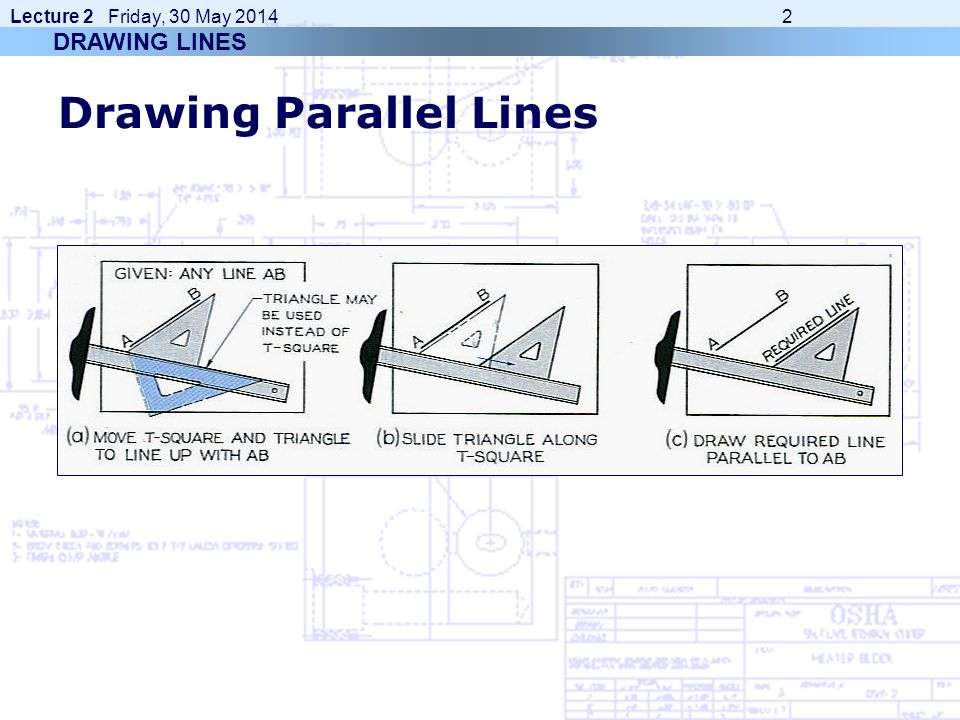 Drawing Parallel Lines With Compass : Engineering graphics e ppt video online download