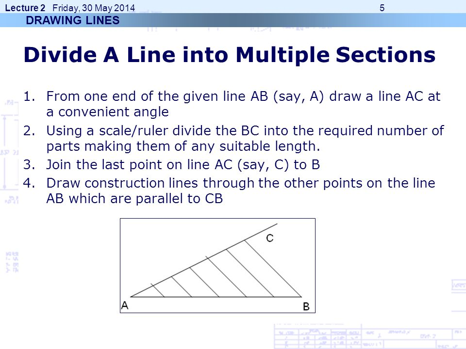 Divide A Line into Multiple Sections