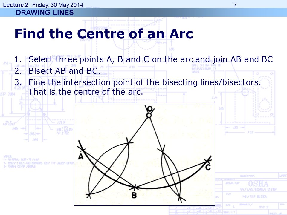 Find the Centre of an Arc