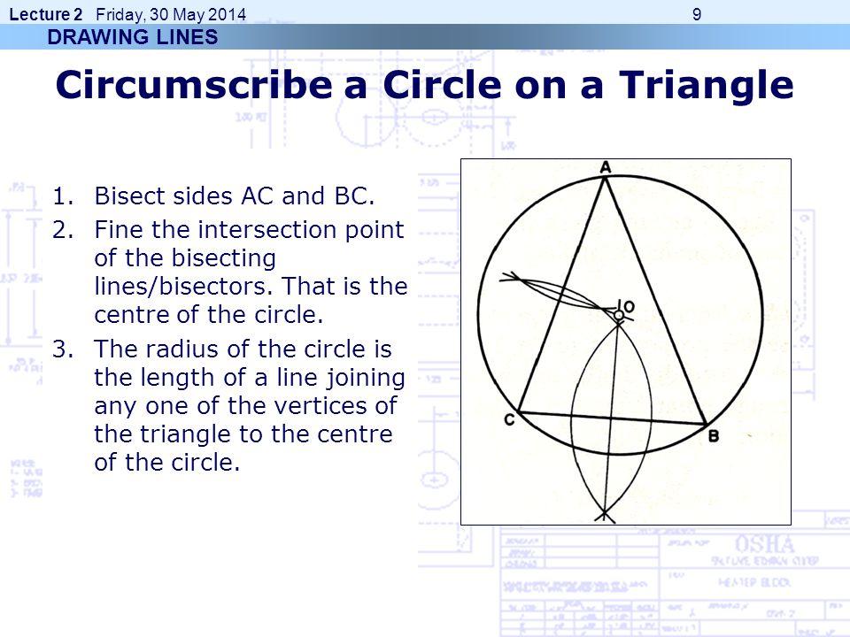 Circumscribe a Circle on a Triangle