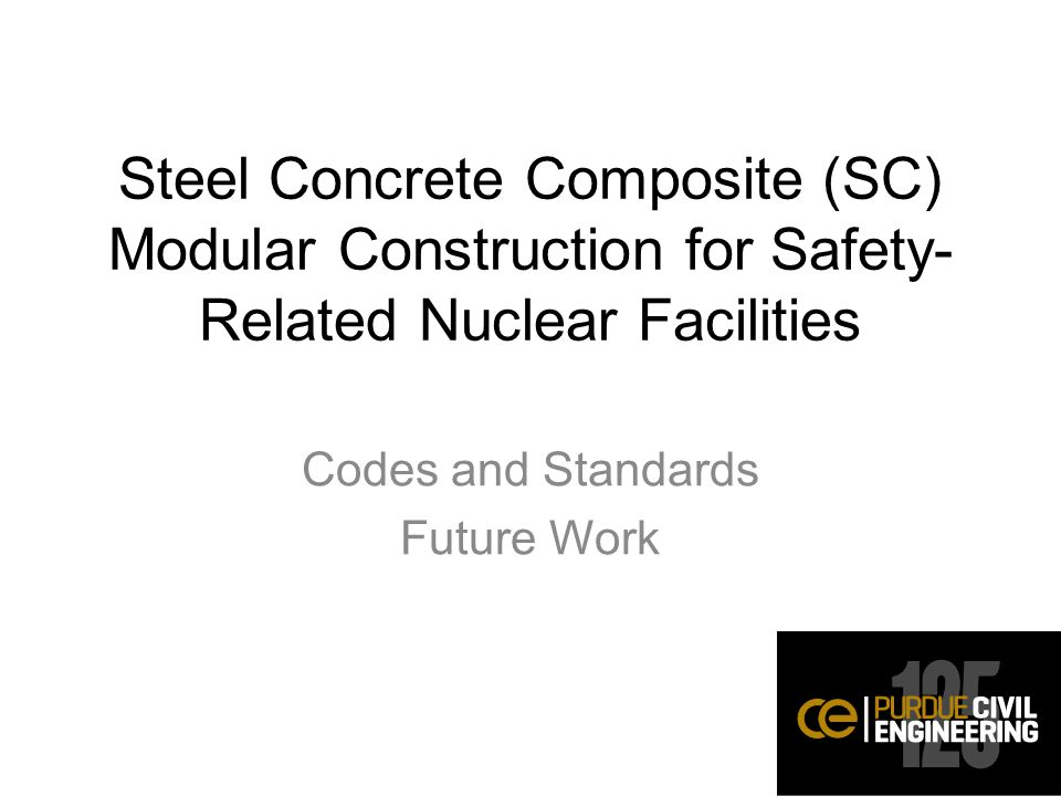 Codes and Standards Future Work