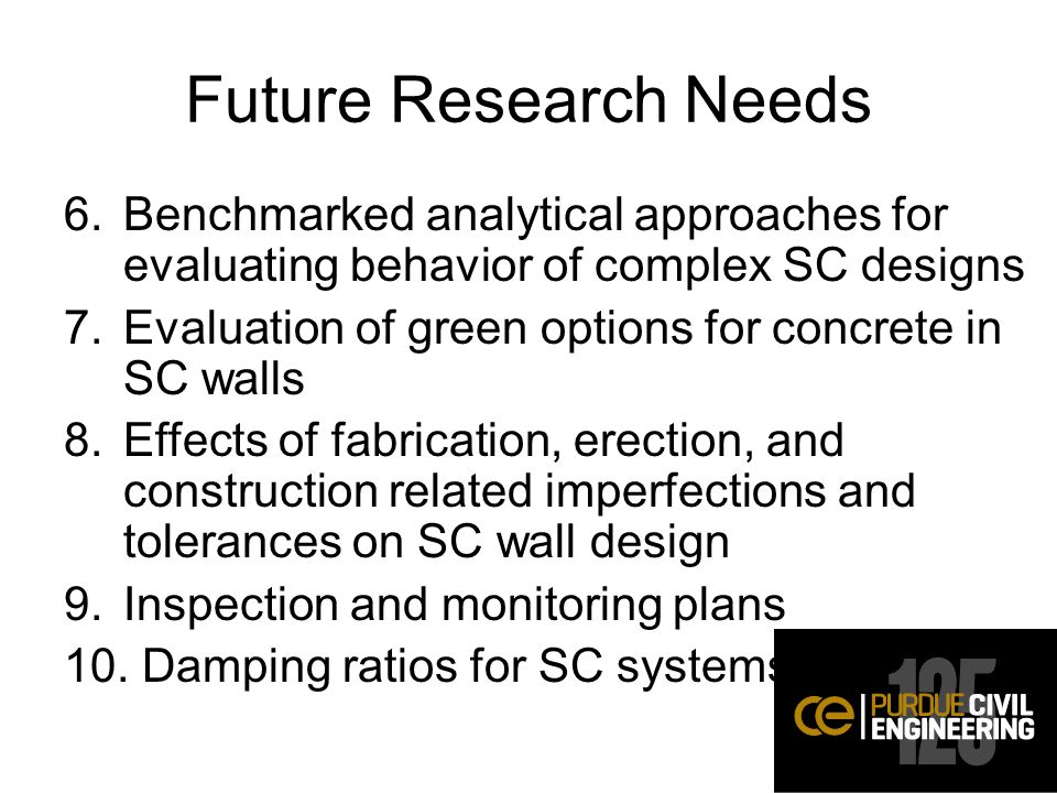 Future Research Needs Benchmarked analytical approaches for evaluating behavior of complex SC designs.
