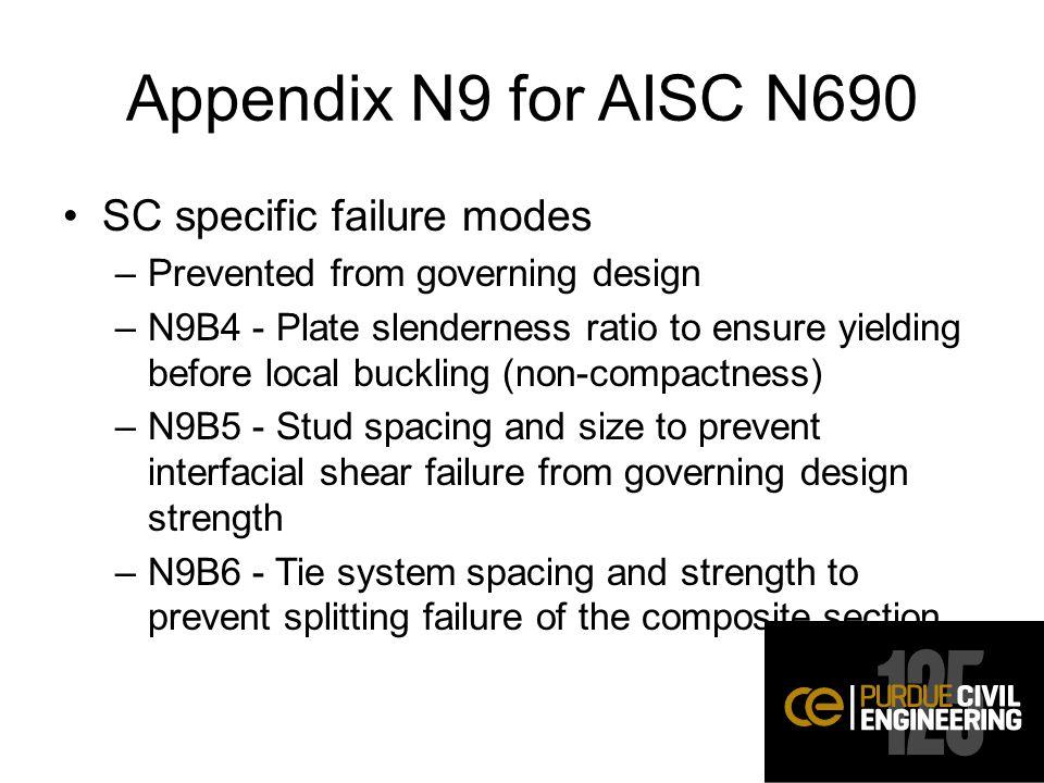 Appendix N9 for AISC N690 SC specific failure modes