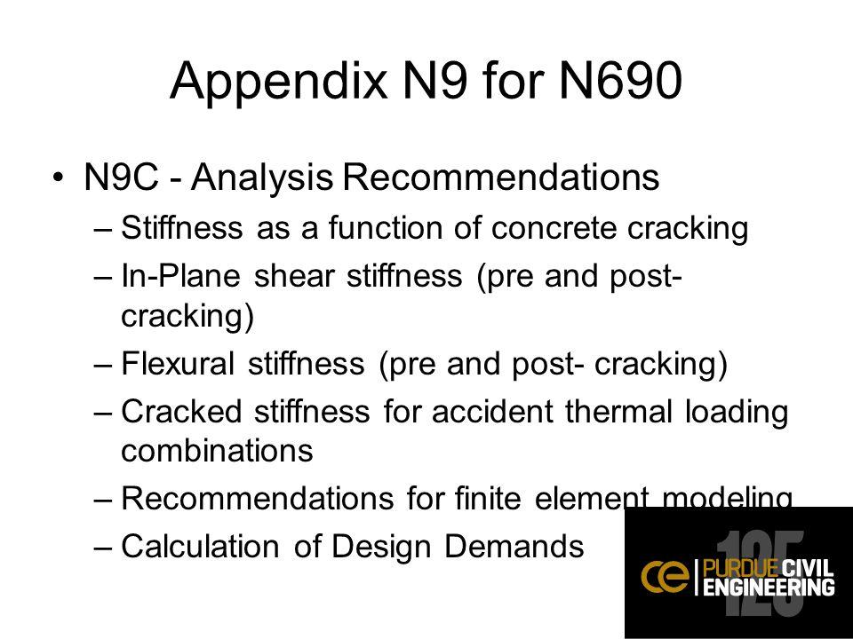 Appendix N9 for N690 N9C - Analysis Recommendations
