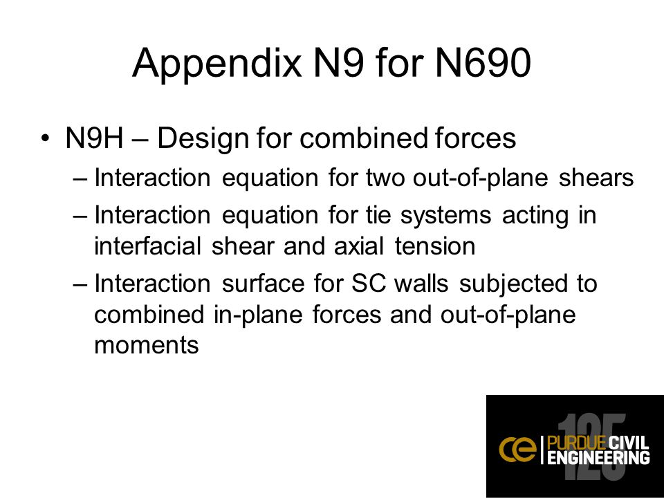 Appendix N9 for N690 N9H – Design for combined forces