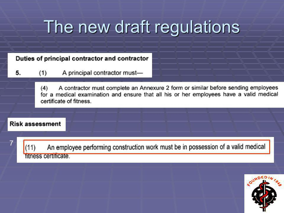 The new draft regulations