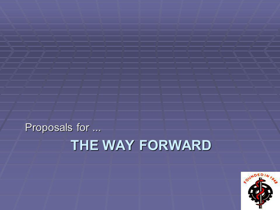 Proposals for ... The Way Forward