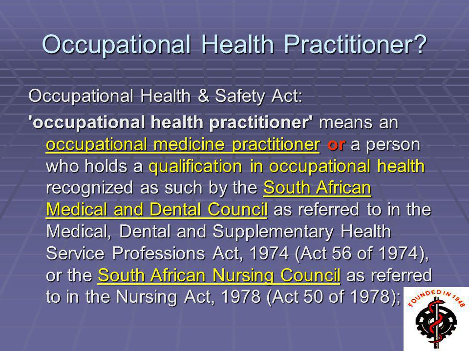 Occupational Health Practitioner