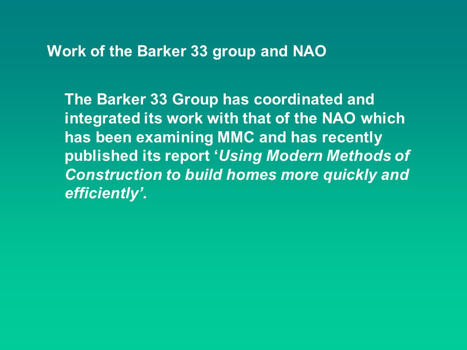 Work of the Barker 33 group and NAO