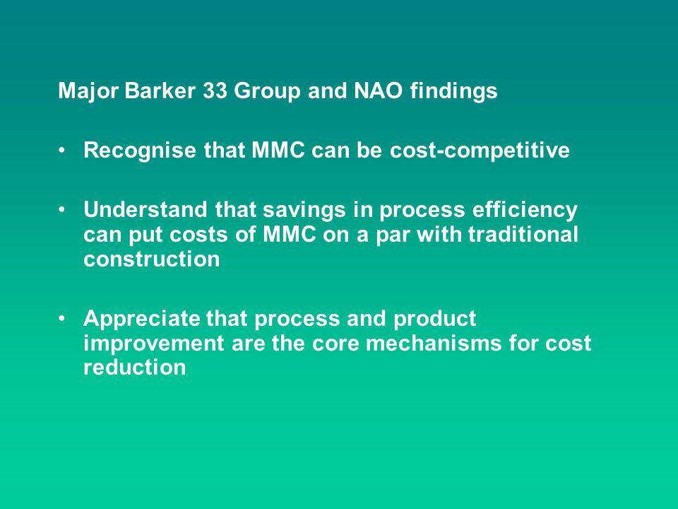 Major Barker 33 Group and NAO findings