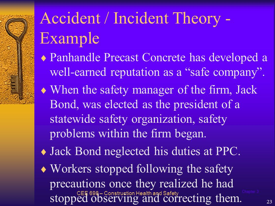 Accident / Incident Theory - Example