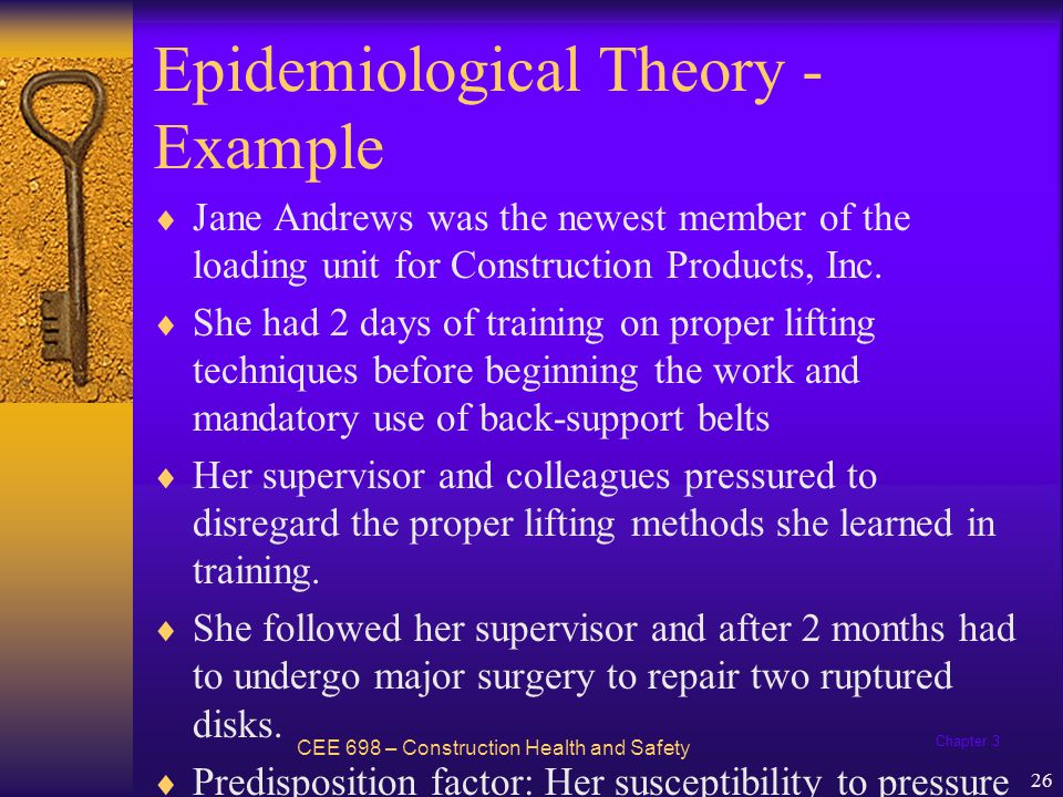 Epidemiological Theory - Example