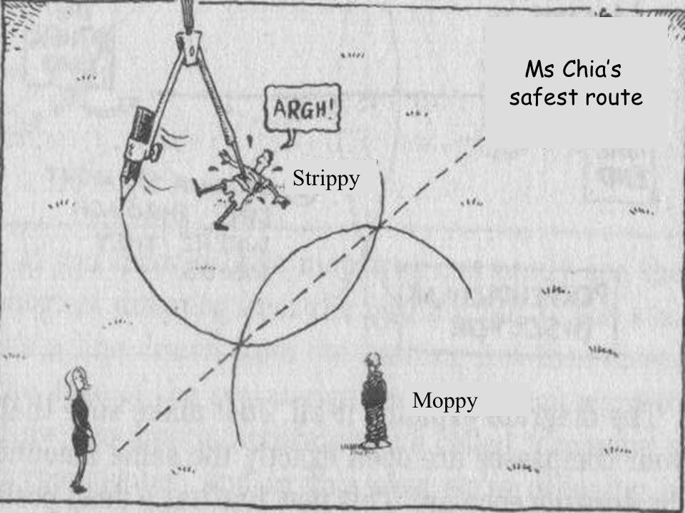 Ms Chia's safest route Strippy Moppy