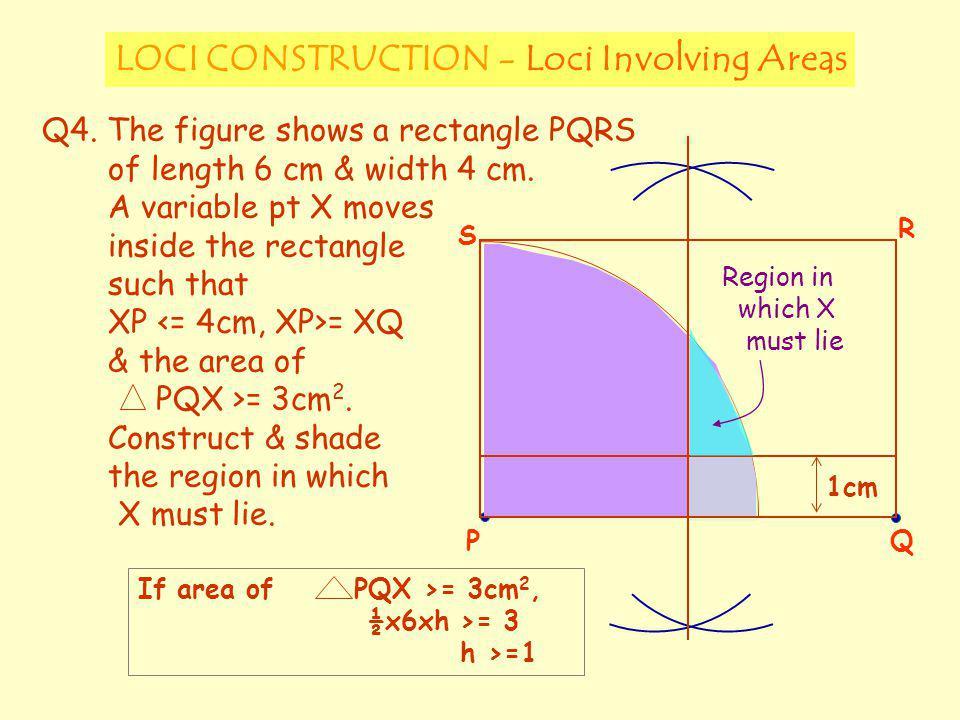 LOCI CONSTRUCTION - Loci Involving Areas