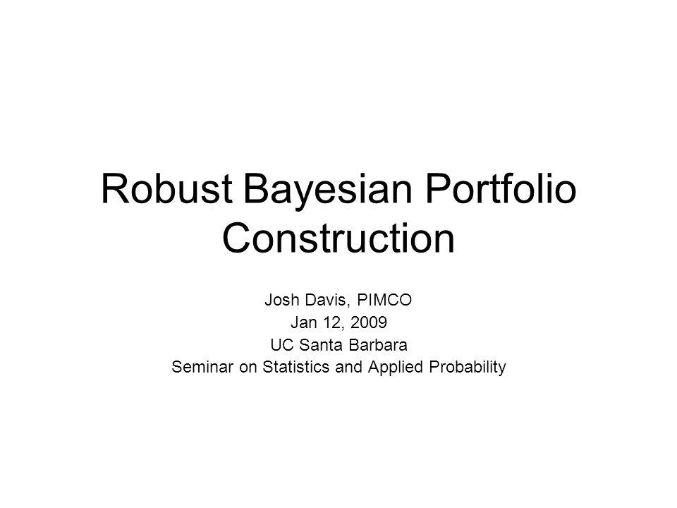 Robust Bayesian Portfolio Construction