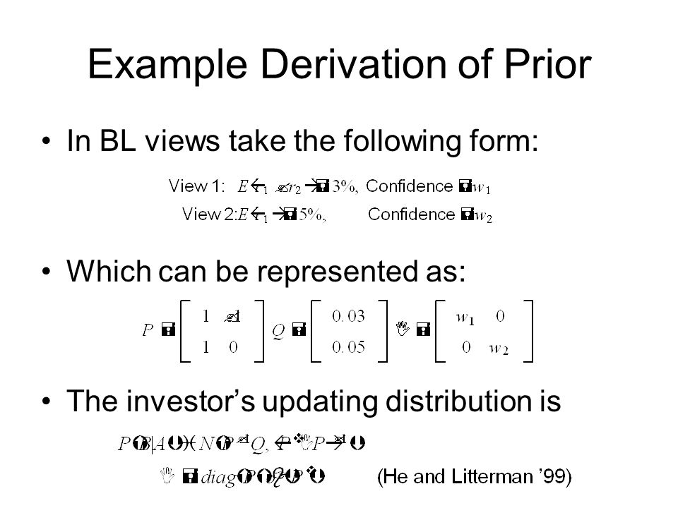 Example Derivation of Prior