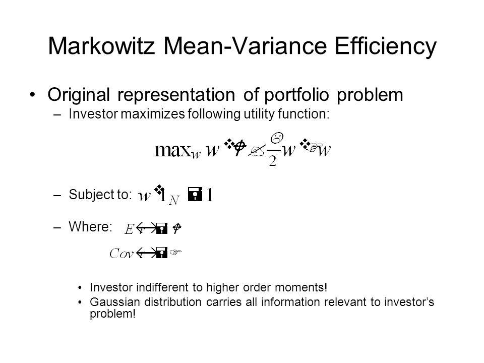 Markowitz Mean-Variance Efficiency