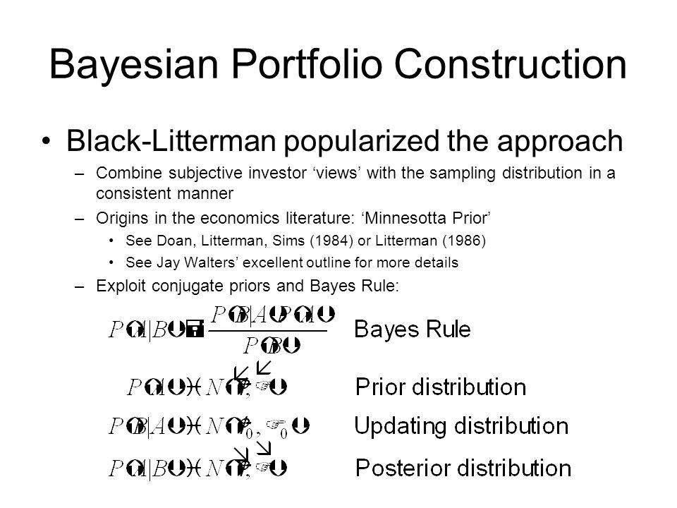 Bayesian Portfolio Construction