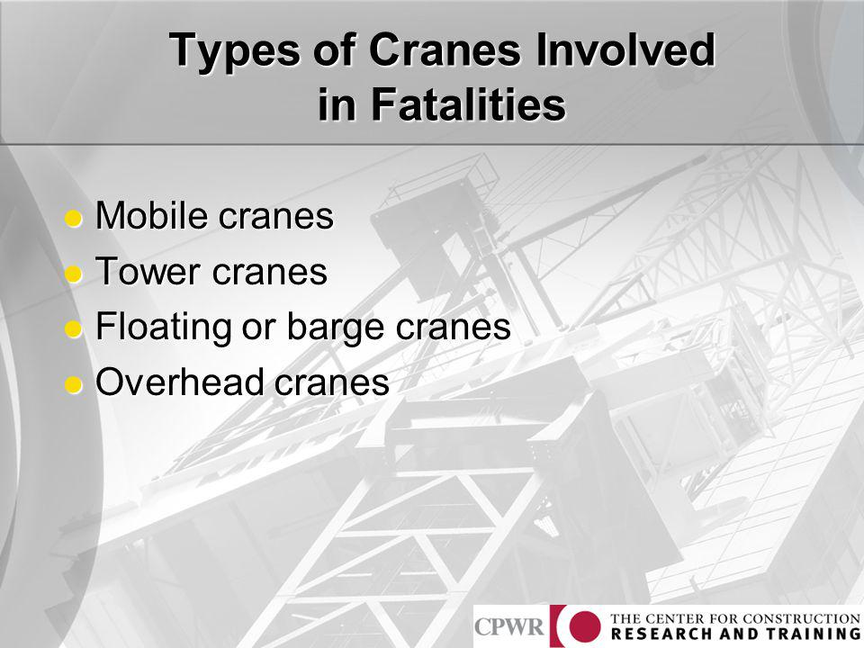 Types Of Mobile Cranes : Crane related s and injuries in construction ppt