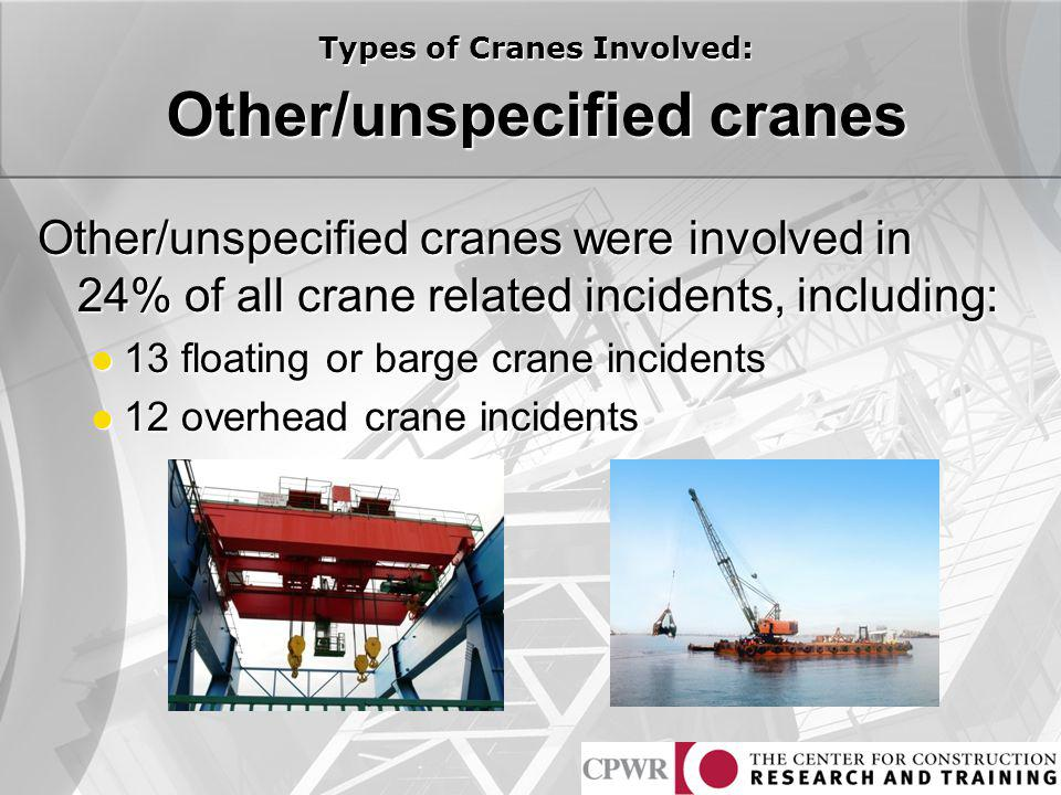 Other/unspecified cranes