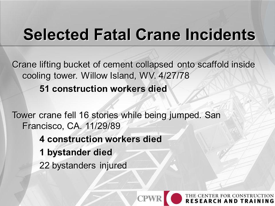 Selected Fatal Crane Incidents