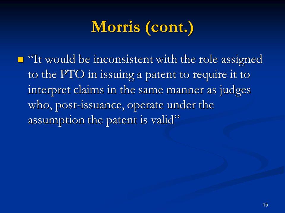 Morris (cont.)