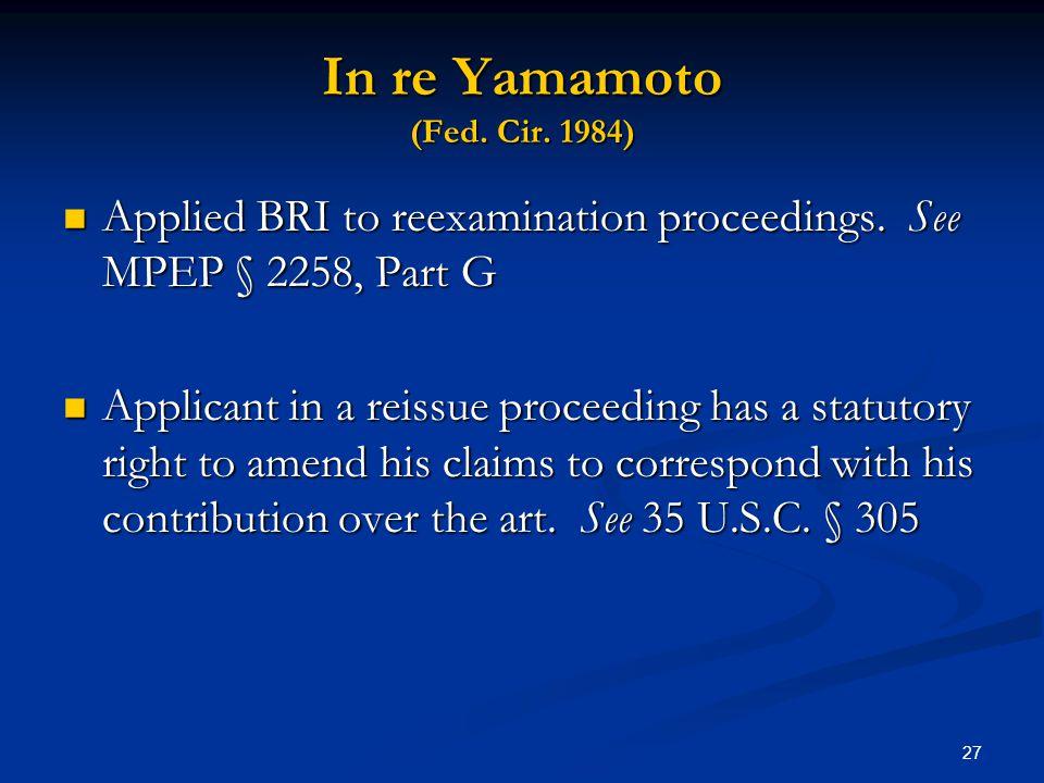 In re Yamamoto (Fed. Cir. 1984)