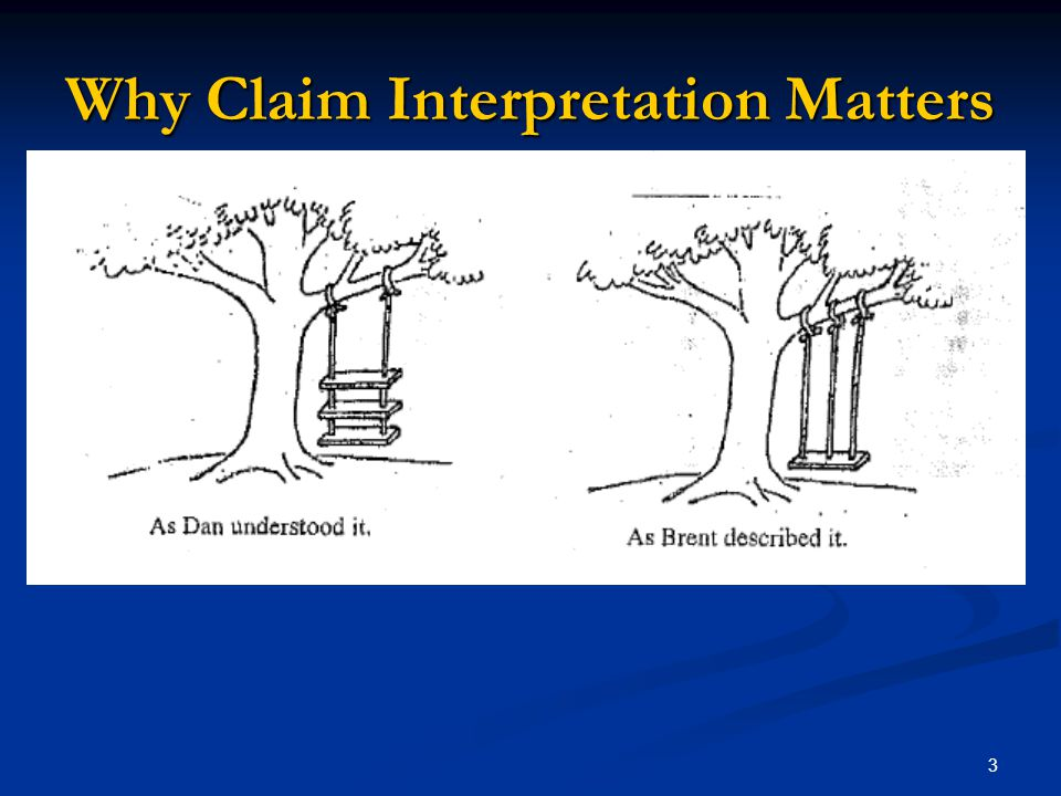 Why Claim Interpretation Matters
