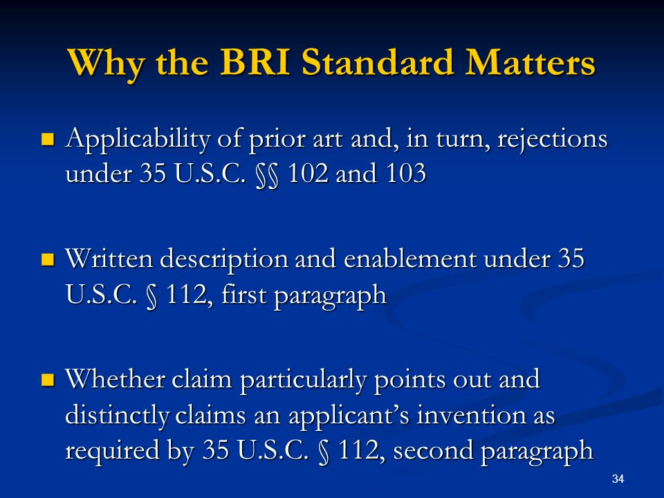 Why the BRI Standard Matters