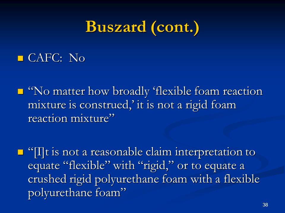 Buszard (cont.) CAFC: No