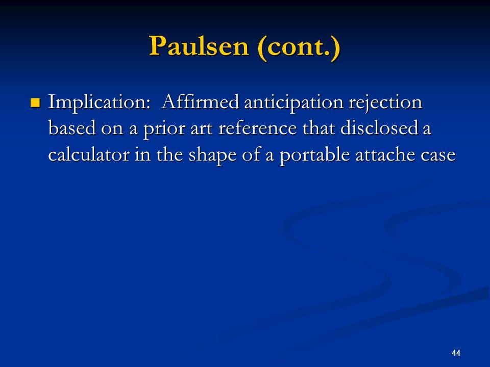 Paulsen (cont.)