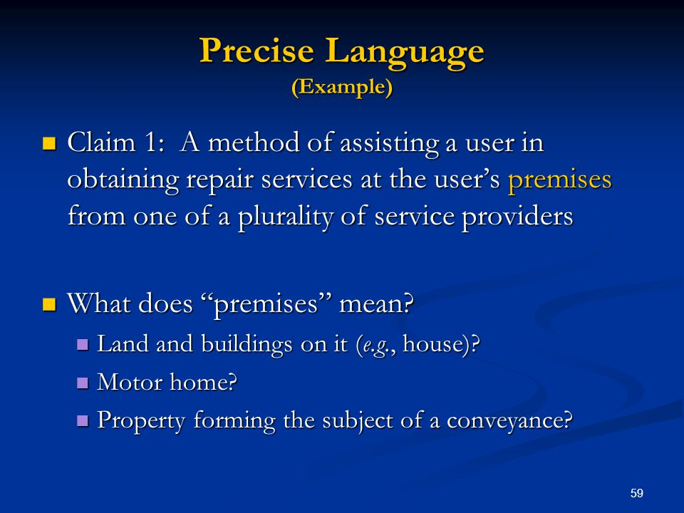 Precise Language (Example)