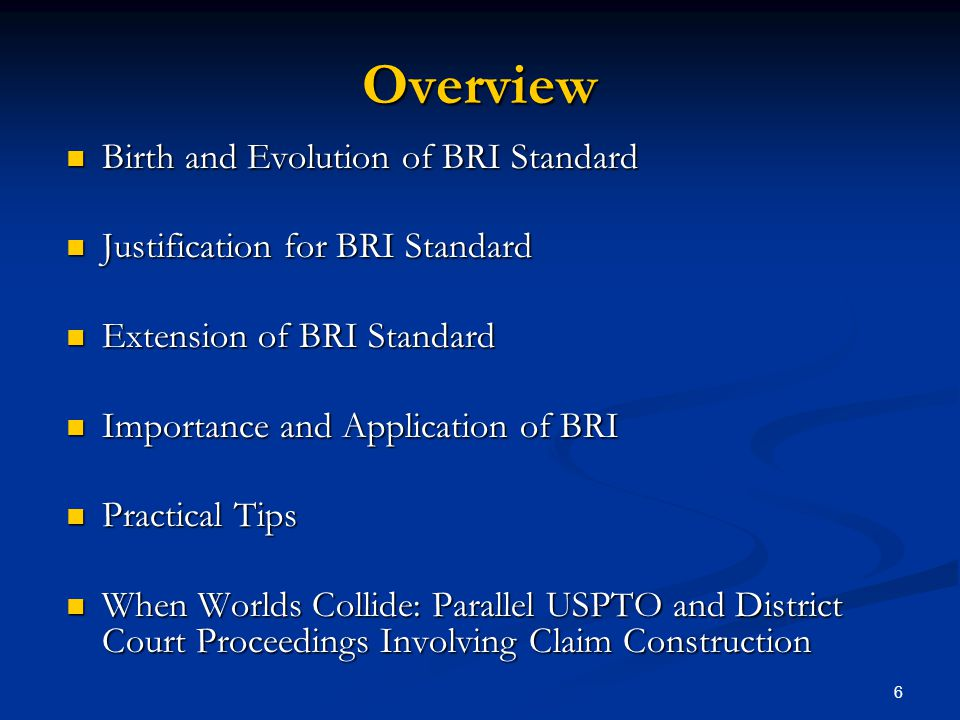 Overview Birth and Evolution of BRI Standard