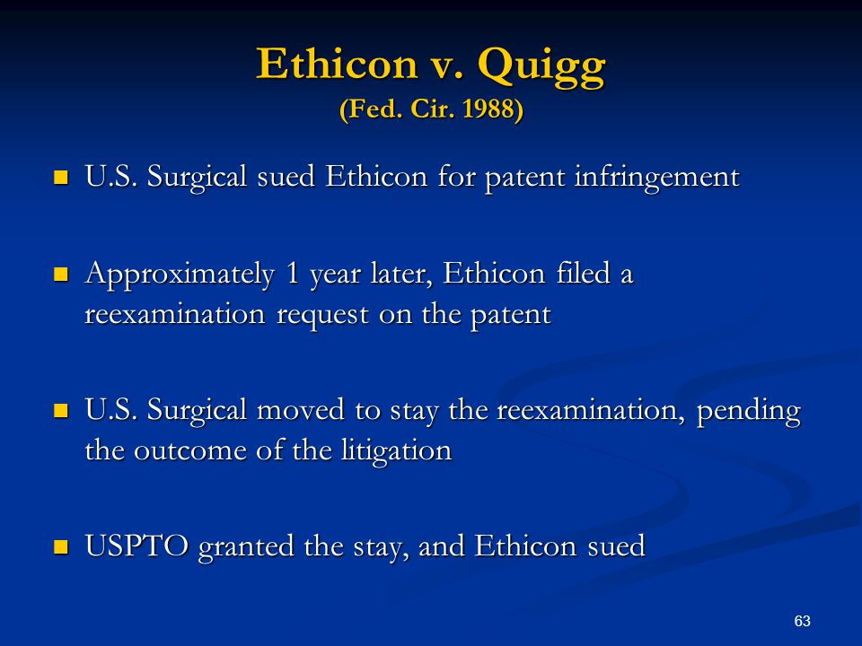 Ethicon v. Quigg (Fed. Cir. 1988)
