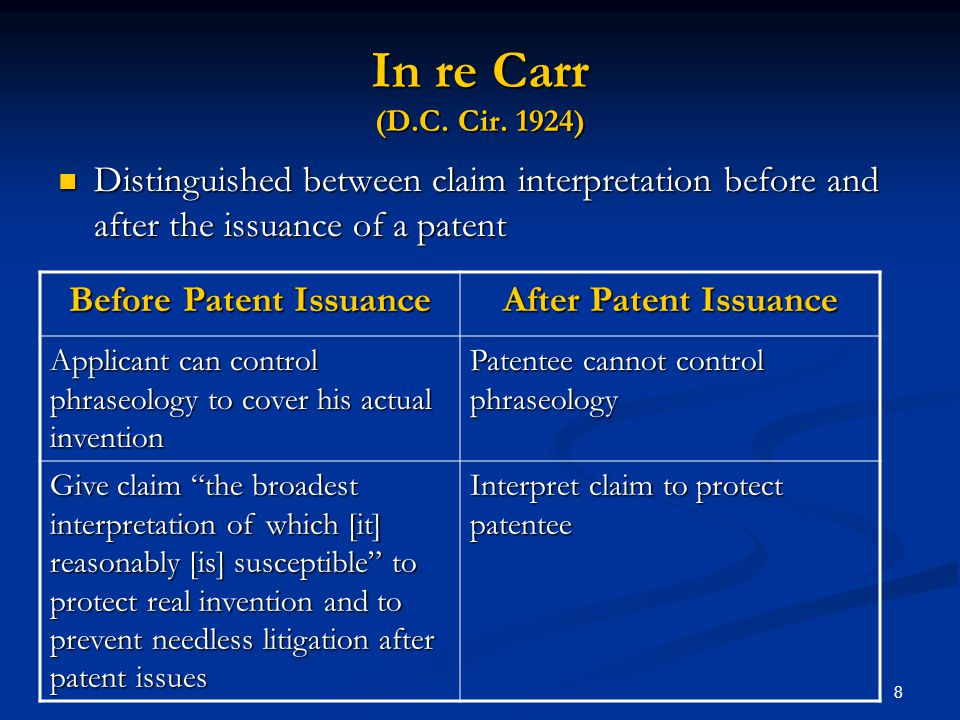 Before Patent Issuance
