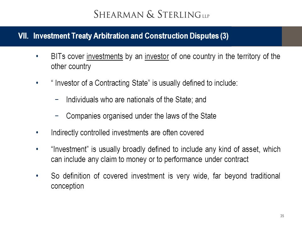 VII. Investment Treaty Arbitration and Construction Disputes (3)