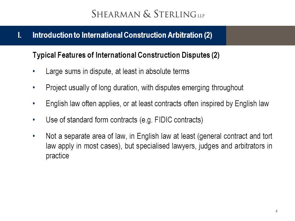 I. Introduction to International Construction Arbitration (2)