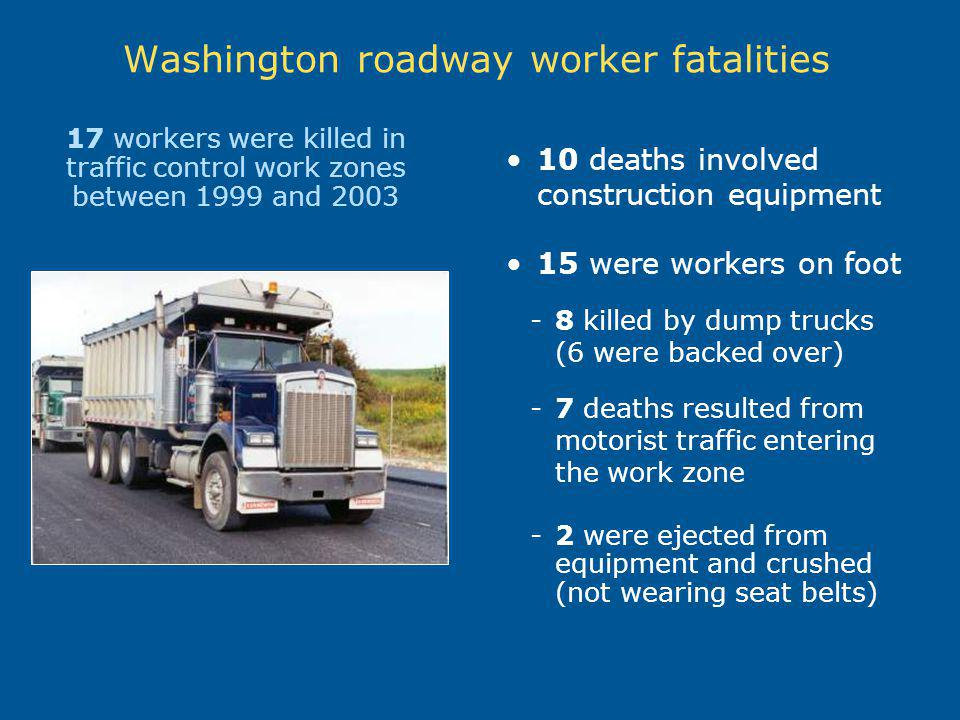 Washington roadway worker fatalities