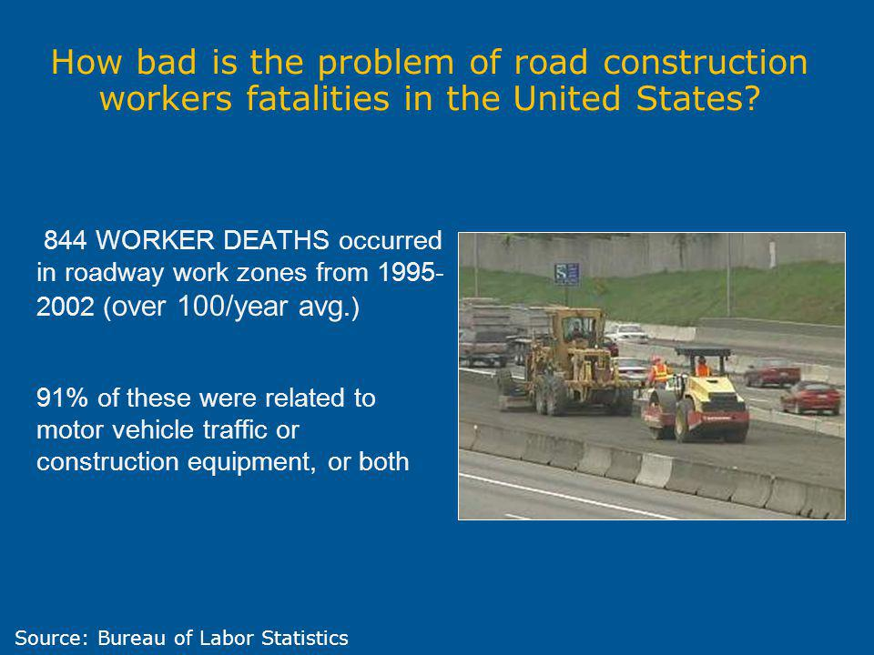 How bad is the problem of road construction workers fatalities in the United States