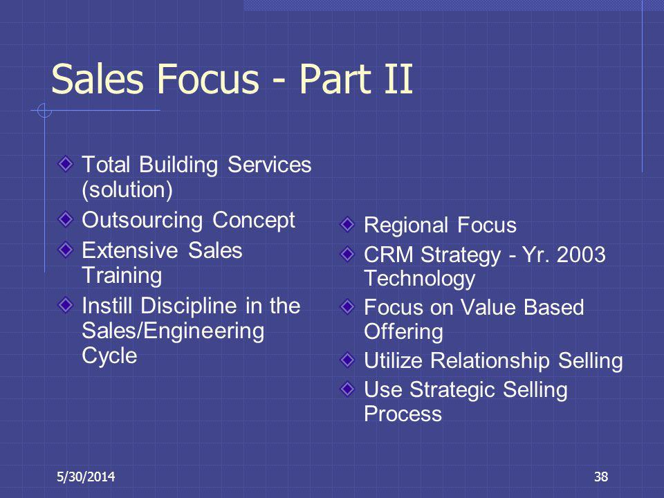 Sales Focus - Part II Total Building Services (solution)