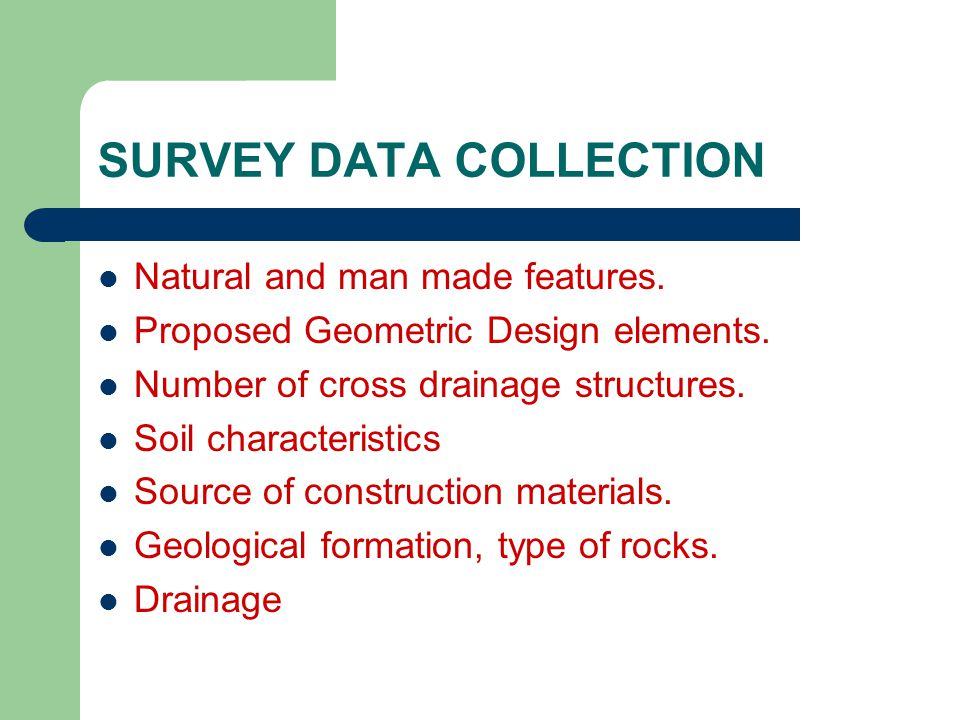 SURVEY DATA COLLECTION