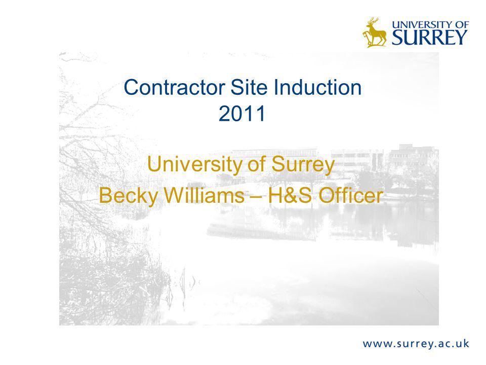 Contractor Site Induction 2011