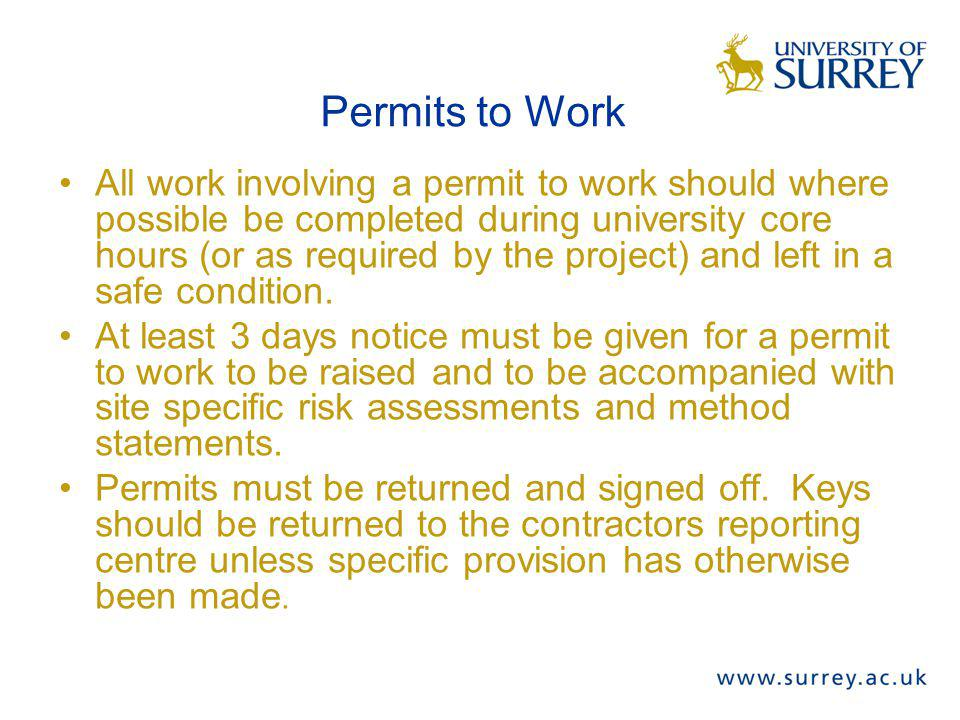 Permits to Work