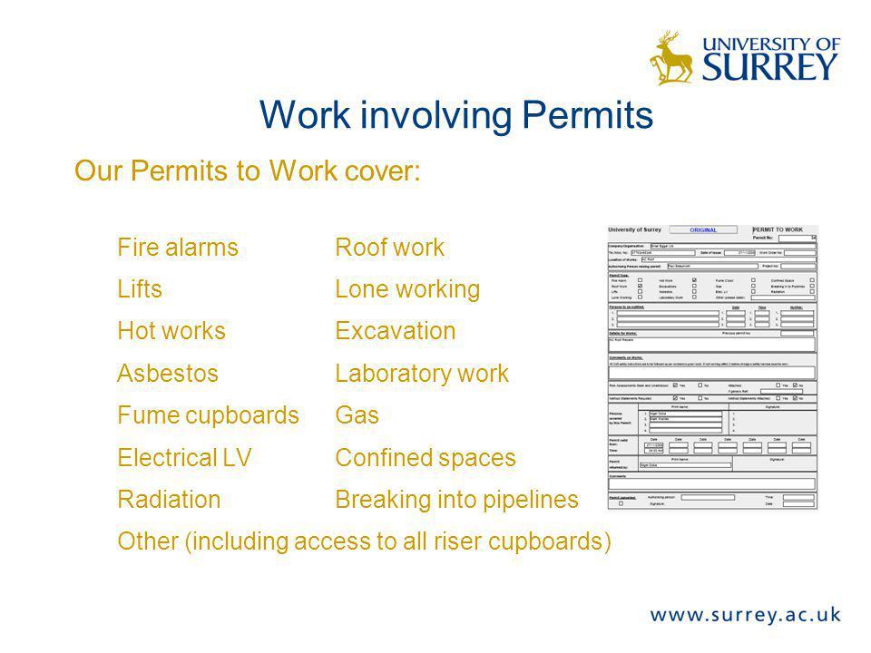 Work involving Permits