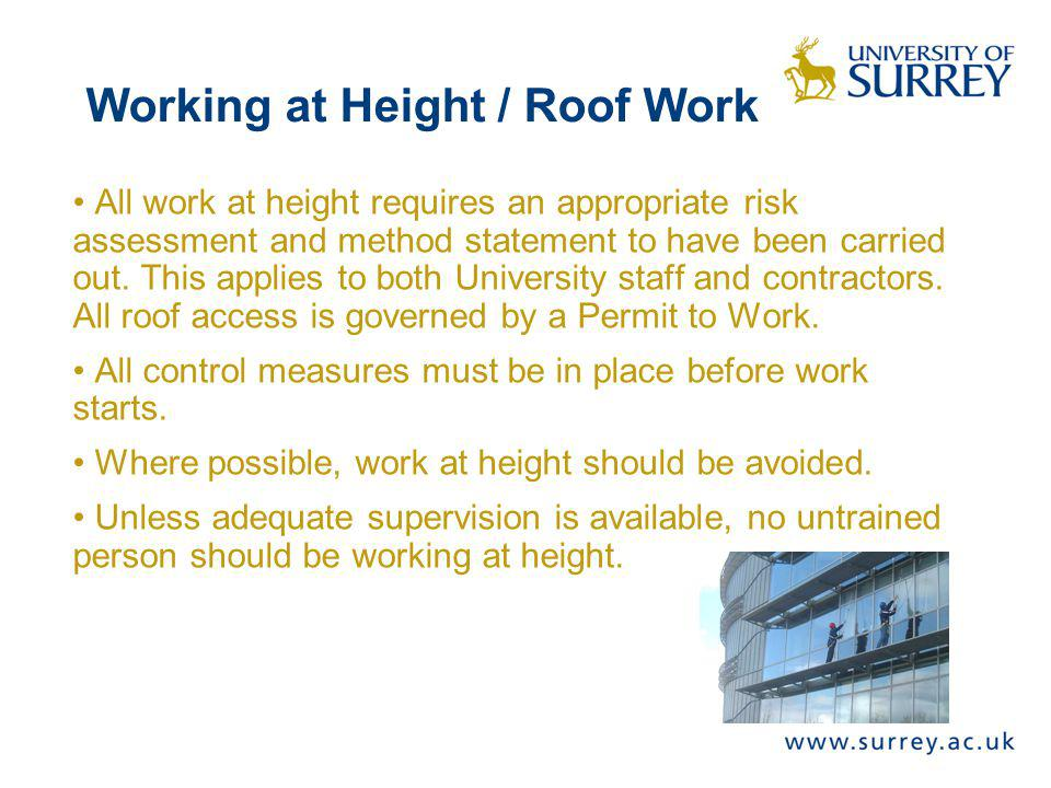 Working at Height / Roof Work