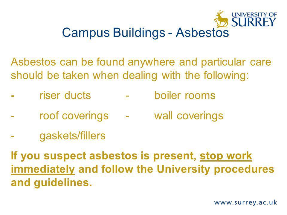 Campus Buildings - Asbestos